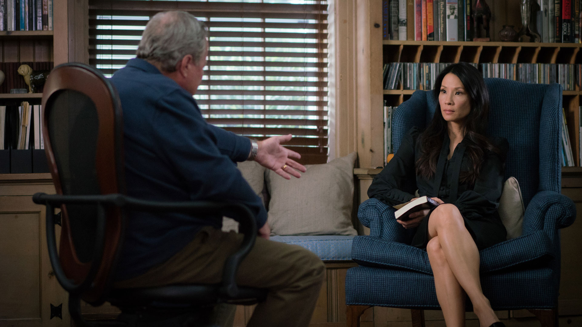 John Heard as Watson's stepfather and Lucy Liu as Dr. Joan Watson