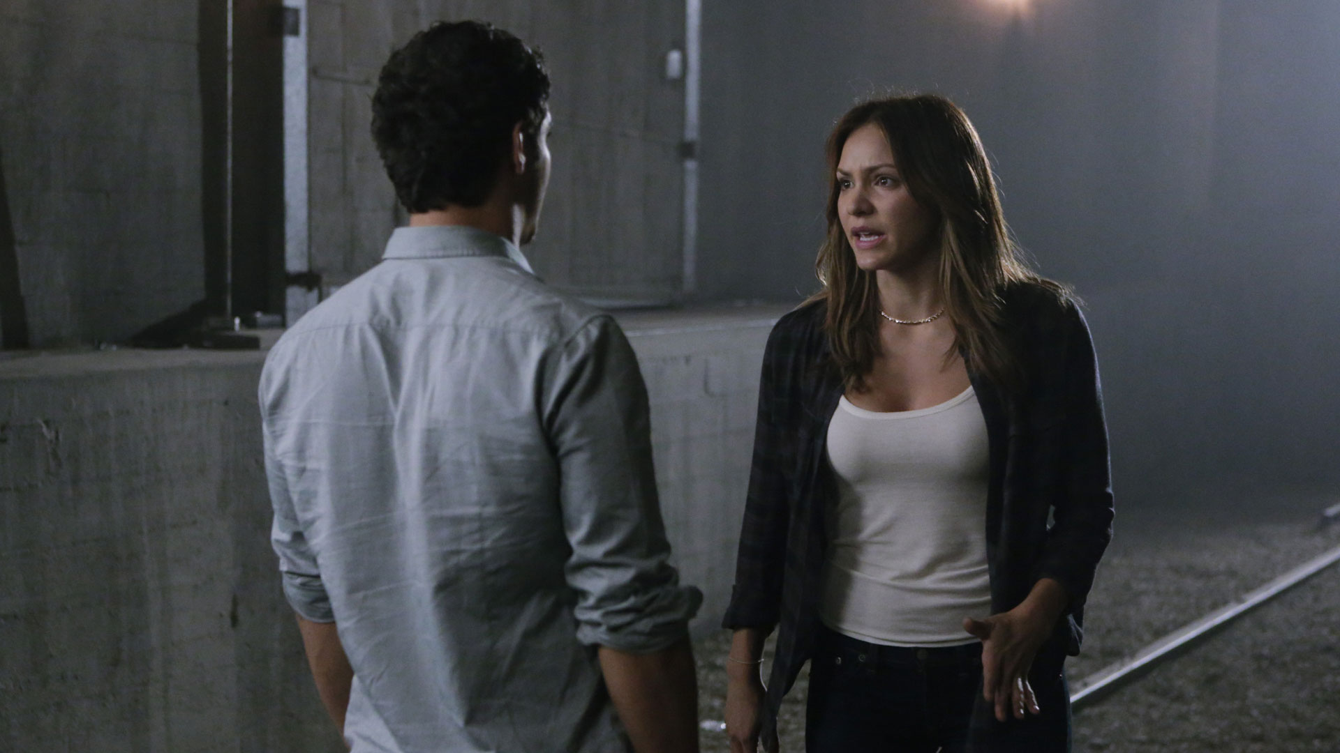 Elyes Gabel as Walter O'Brien and Katharine McPhee as Paige Dineen