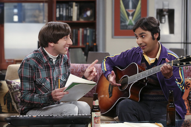 Howard and Raj peforming