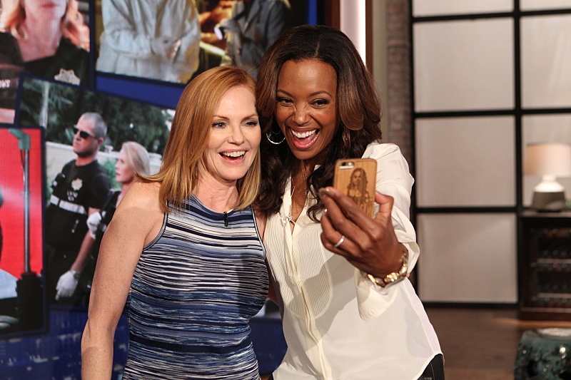 Marg Helgenberger and Aisha Tyler