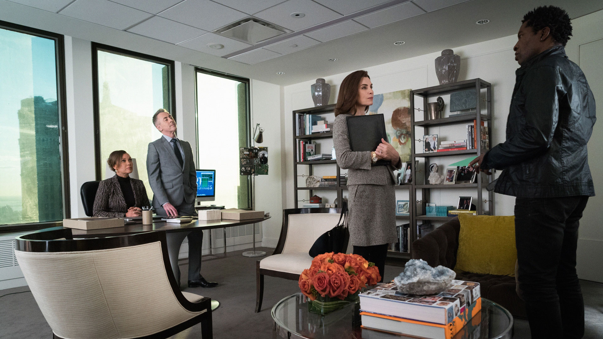 Vanessa Williams as Courtney Paige, Alan Cumming as Eli Gold, and Julianna Margulies as Alicia Florrick