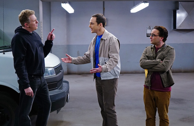 Sheldon tries to resolve the chemical standoff
