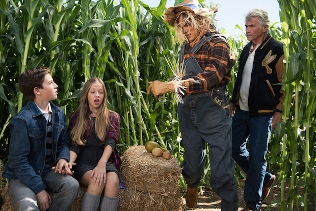 Samantha's sweet moment is also interrupted by a scarecrow