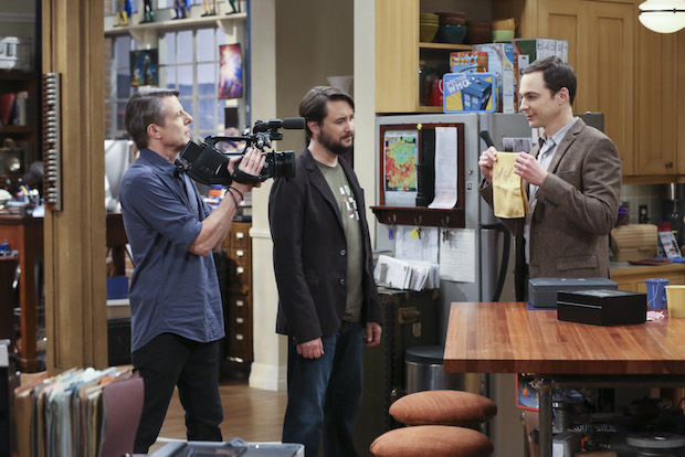 Sheldon proudly shows off his Spock memorabilia