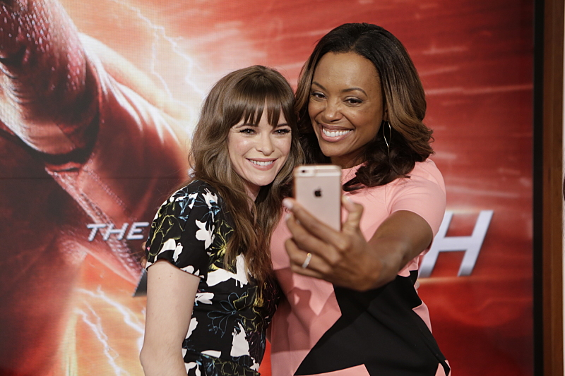 Danielle Panabaker and Aisha Tyler