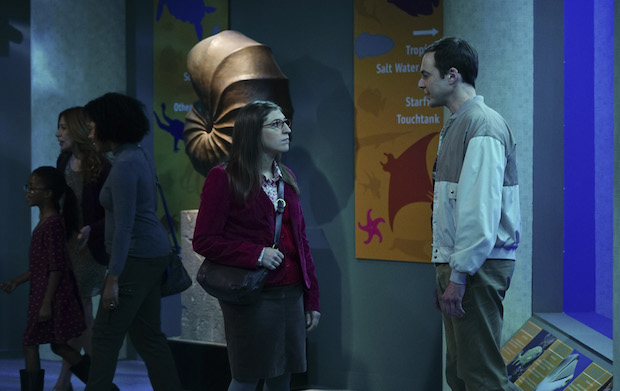 Amy and Sheldon spend Thanksgiving together