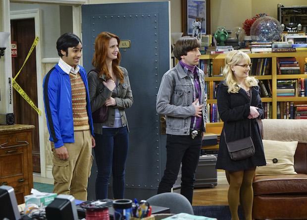 Raj, Emily, Howard, and Bernadette make a grand entrance