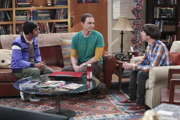 Raj and Howard talk with Sheldon about getting back on the dating scene