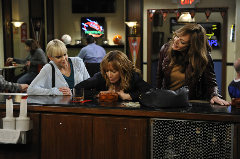 The Plunkett ladies discover Michelle bobbing for beer nuts at a sports bar