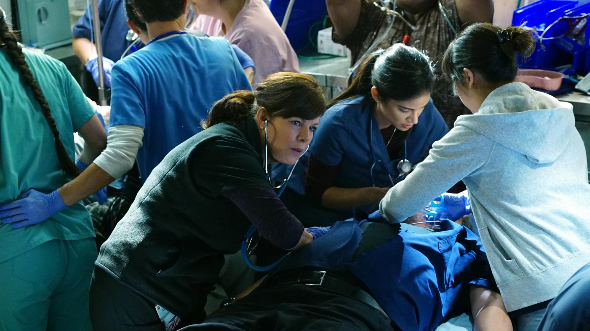 Marcia Gay Harden as Dr. Leanne Rorish and Melanie Chandra as Dr. Malaya Pineda