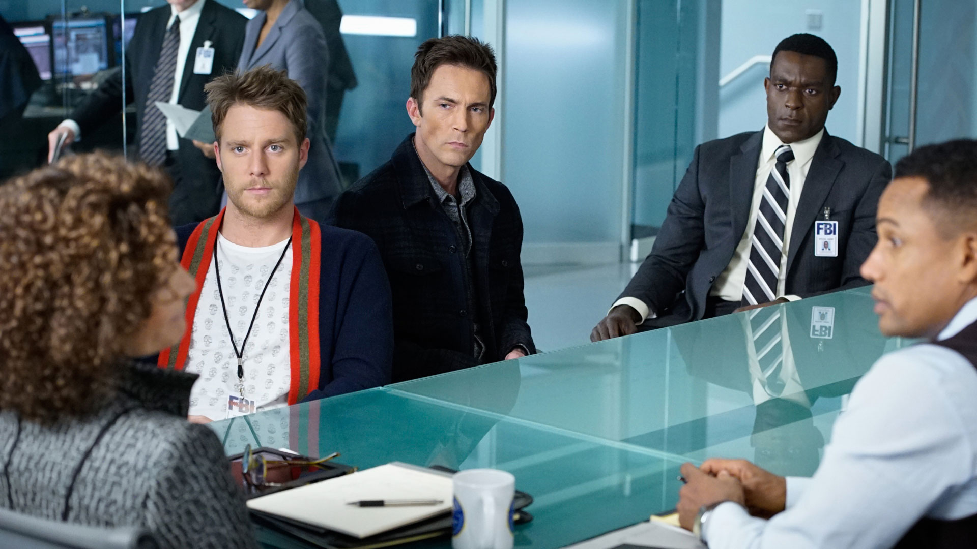 Jake McDorman as Brian Finch, Desmond Harrington as Agent Casey Rooks, and Hill Harper as Agent Spelman Boyle