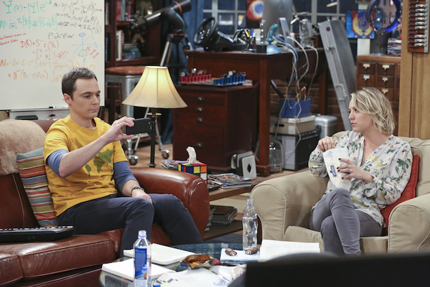 Sheldon discusses a problem with Penny