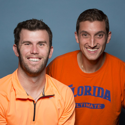 Kurt Gibson and Brodie Smith: Pro frisbee players