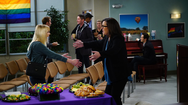Bonnie and Christy decide to check out a new type of AA meeting and bump into a familiar face.