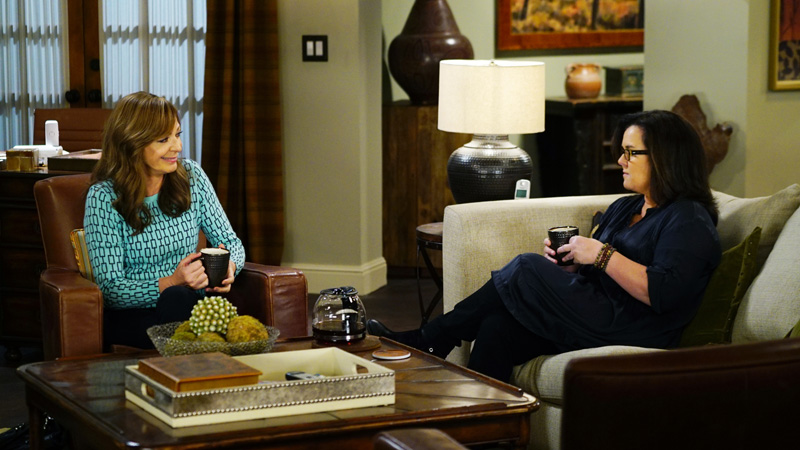 Bonnie sits down for a heart-to-heart with Jeanine, played by Rosie O'Donnell.