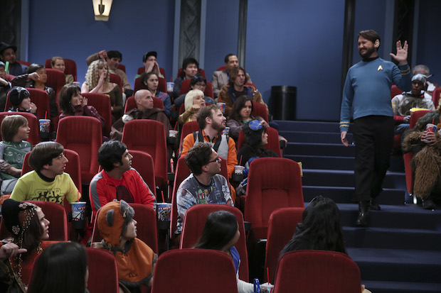 Wil Wheaton makes a grand entrance into the movie theater.