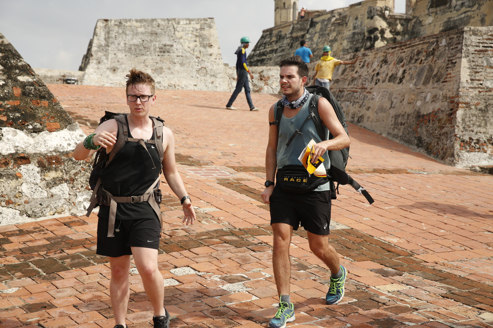 Tyler and Korey must search the catacombs in Cartagena, Colombia, at the Detour Decision Point.