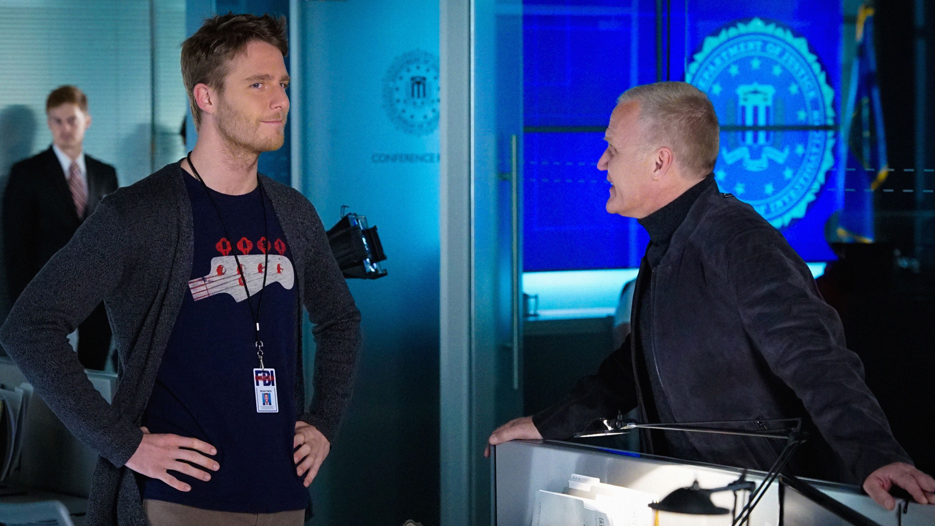 Jake McDorman as Brian Finch and Terry Serpico as David Englander