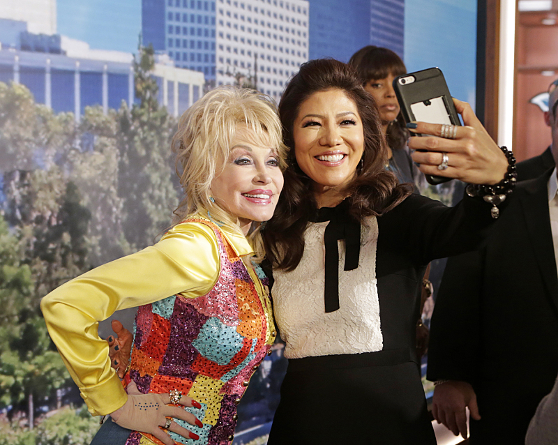 Dolly Parton and Julie Chen