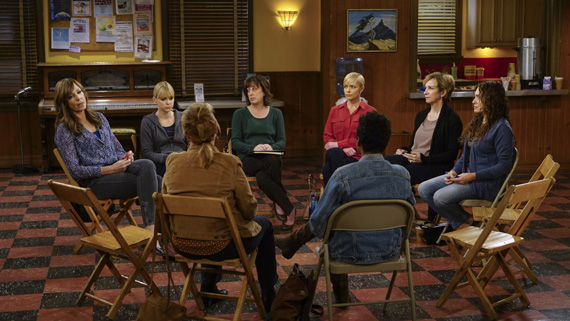 The group meets to talk about their feelings following the sudden loss of Jodi.