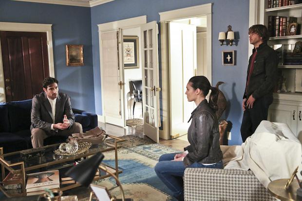 Matthew Del Negro as Jack Simon, Daniela Ruah as Kensi Blye, and Eric Christian Olsen as Marty Deeks