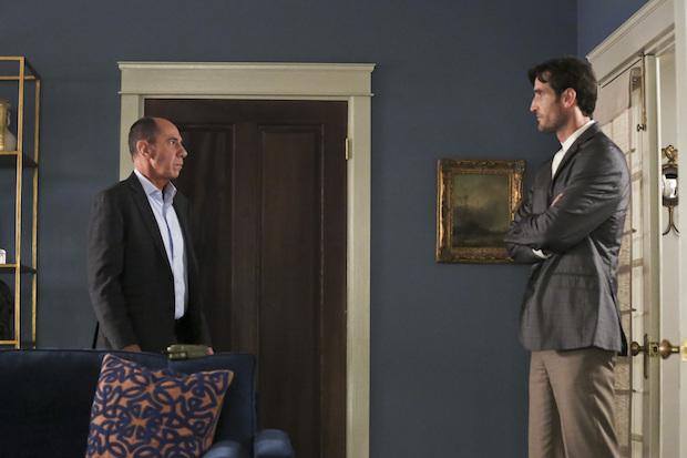 Miguel Ferrer as Owen Granger and Matthew Del Negro as Jack Simon
