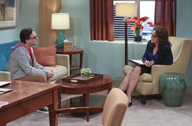 Leonard speaks with a psychiatrist