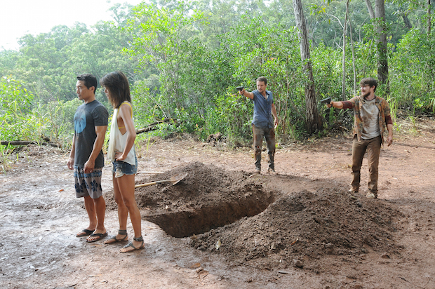 Daniel Dae Kim as Chin Ho Kelly, Grace Park as Kono Kalakaua, James Harvey as Luke and Marshall Allman as Jeremy
