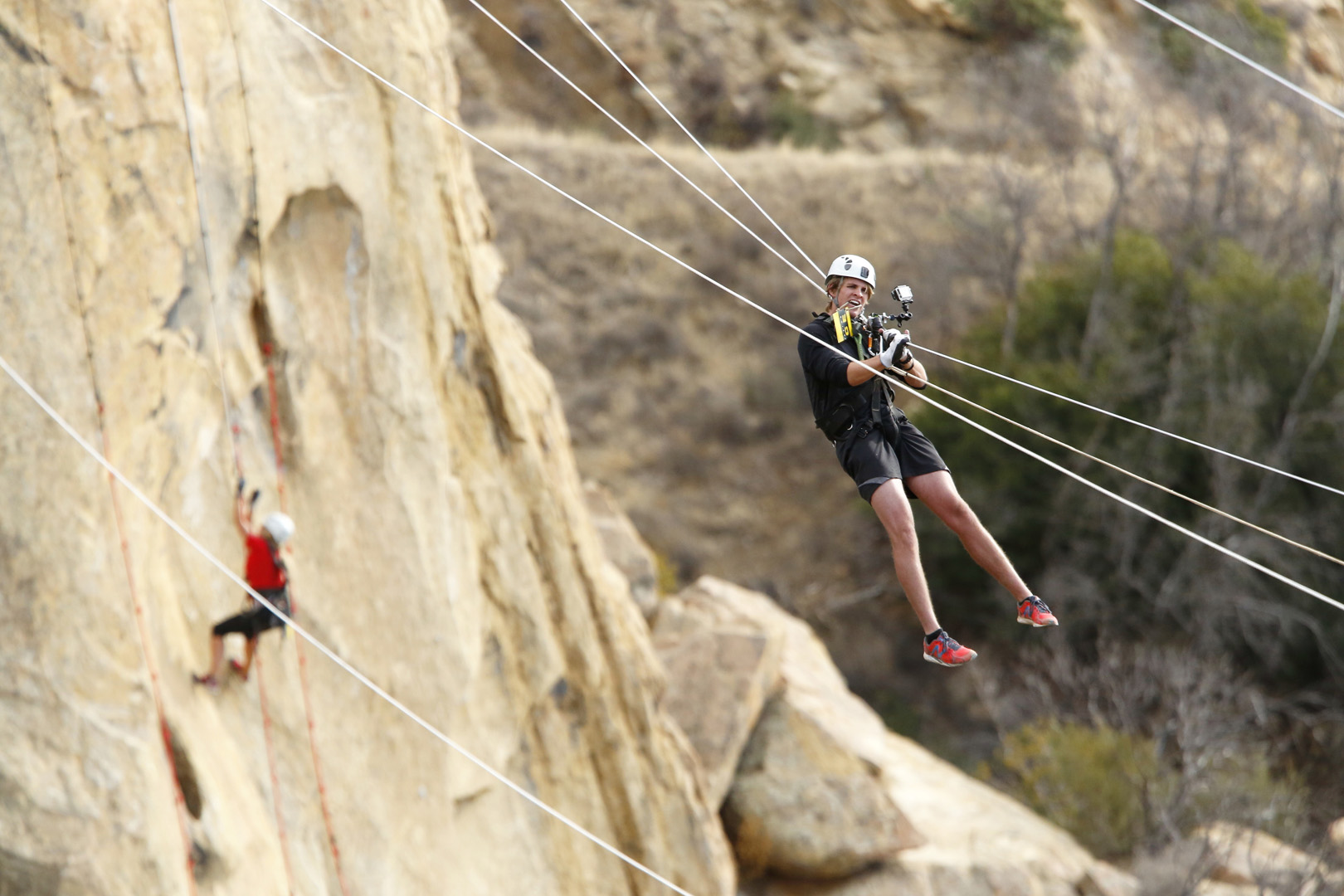 2. Since your high-flying challenges on The Amazing Race, are you both still afraid of heights?