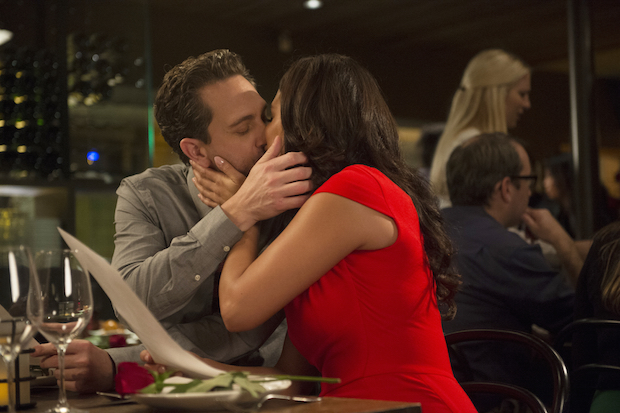 Matt and Colleen pack on the PDA for Valentine's Day.