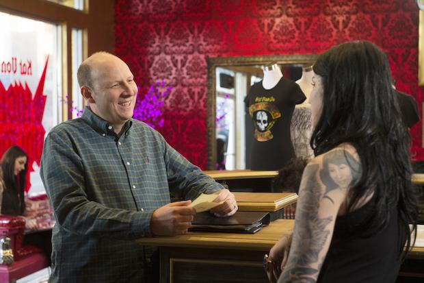 Tim asks Kat Von D for a tattoo.