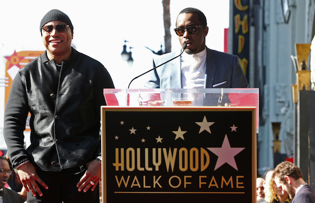 Diddy introduced the man of the hour