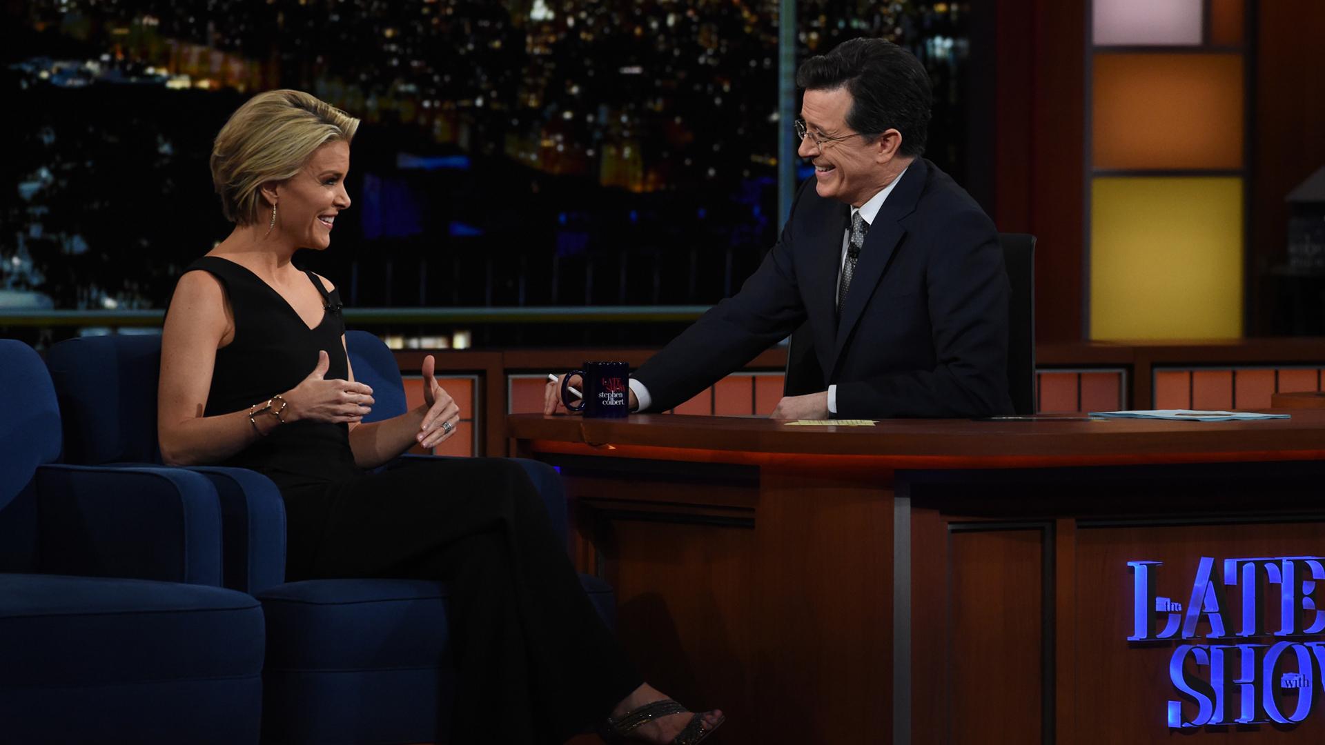 Megyn Kelly and Stephen Colbert