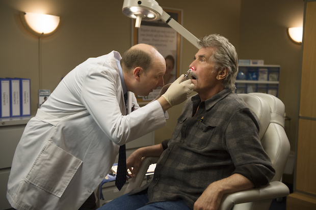 Tim performs a minor sinus-related procedure on John.