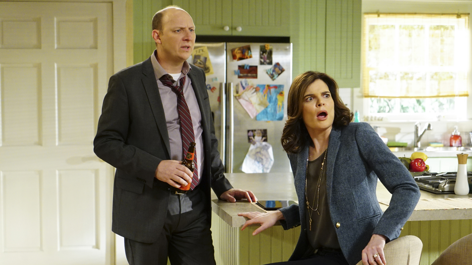 Tim and Heather are shocked by something Tyler says.
