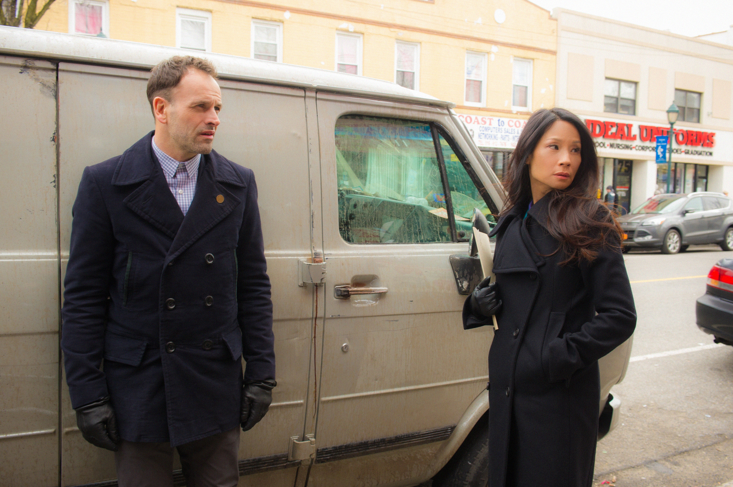 Jonny Lee Miller and Lucy Liu get some direction