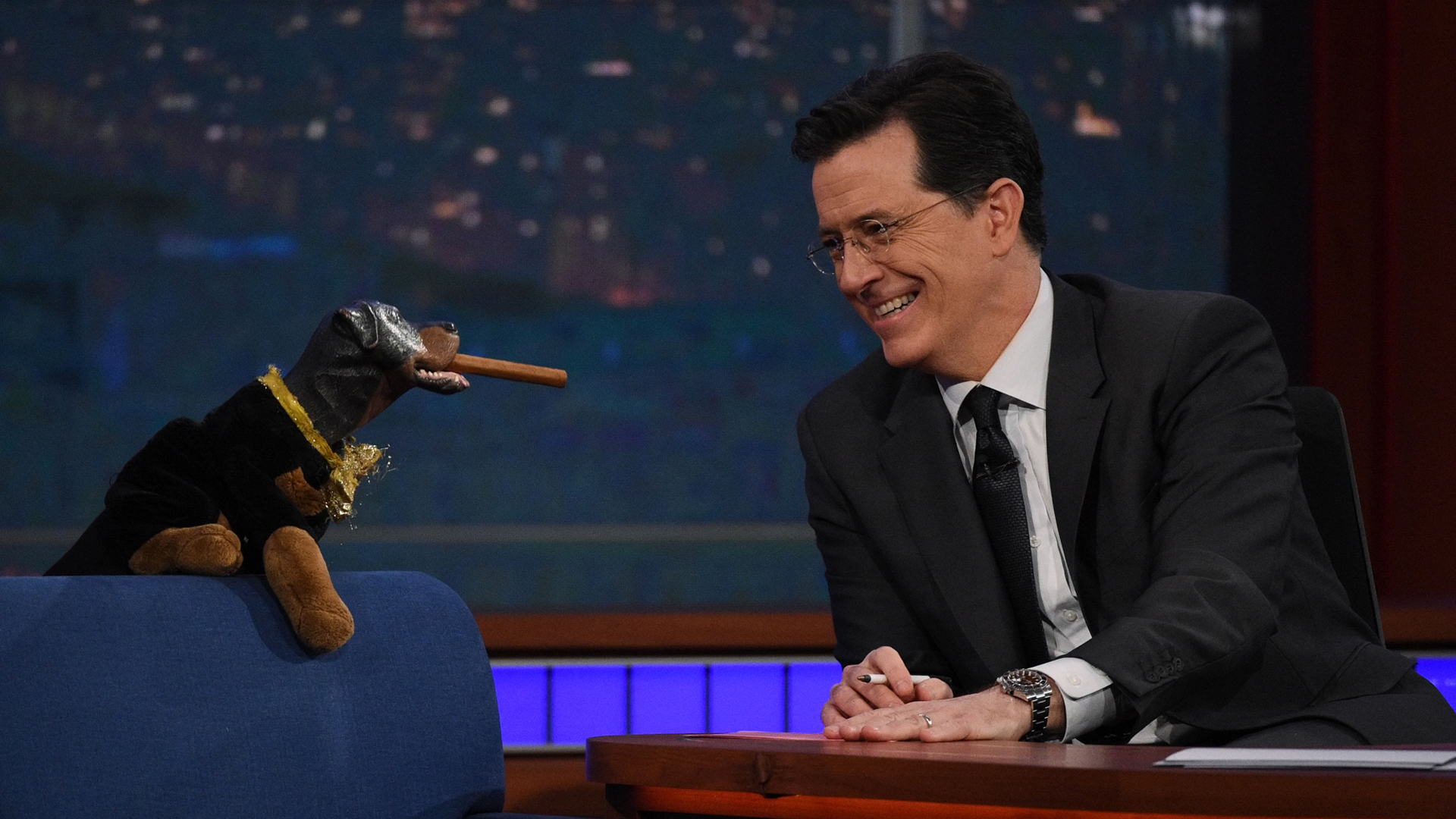 Triumph, the Insult Comic Dog and Stephen Colbert