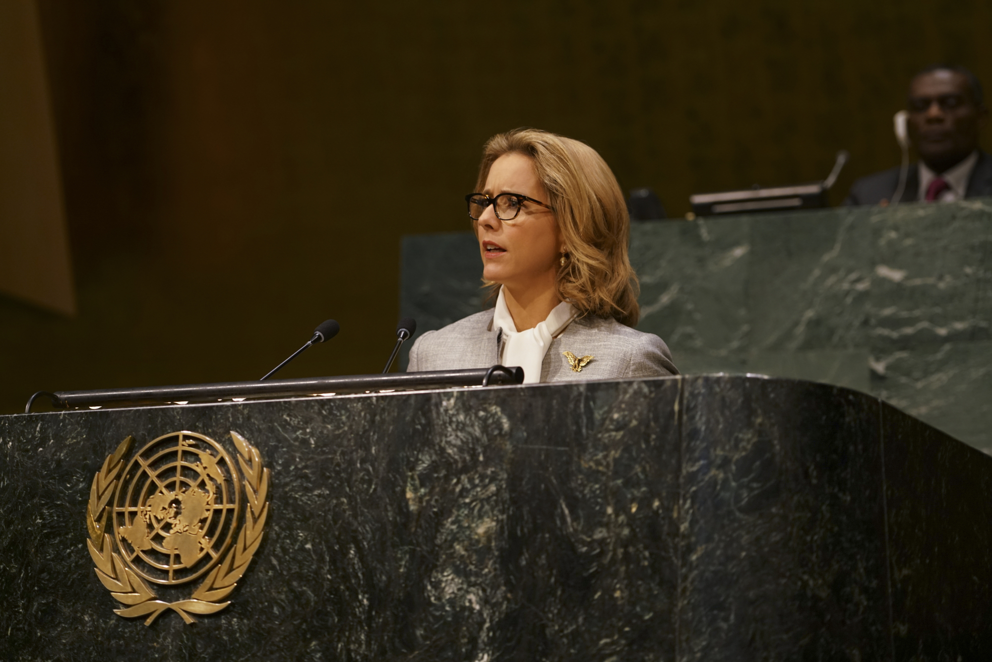 Bess addressed the United Nations for the first time.