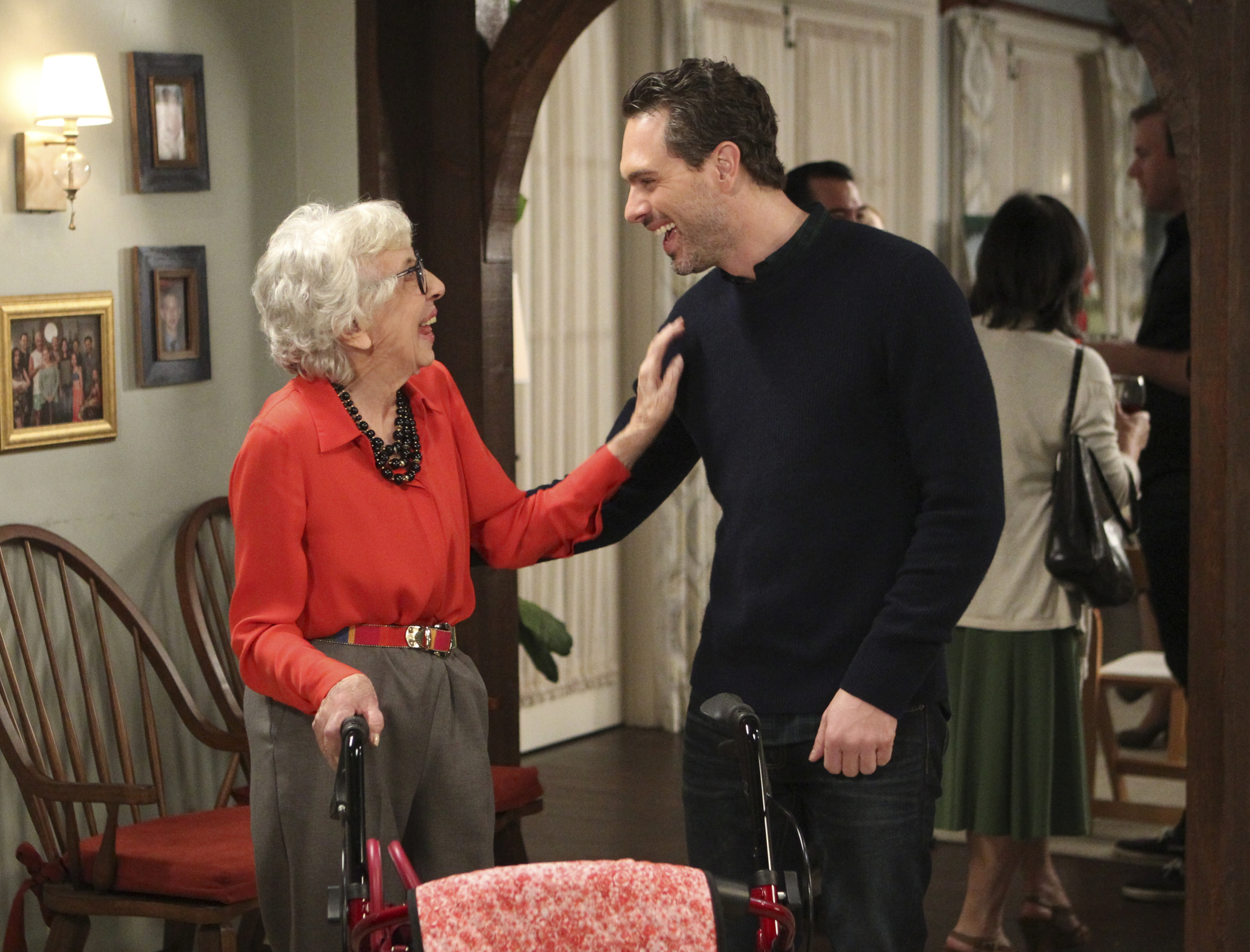 Matt shares a laugh with his grandmother at one of the Short's famous family get-togethers.