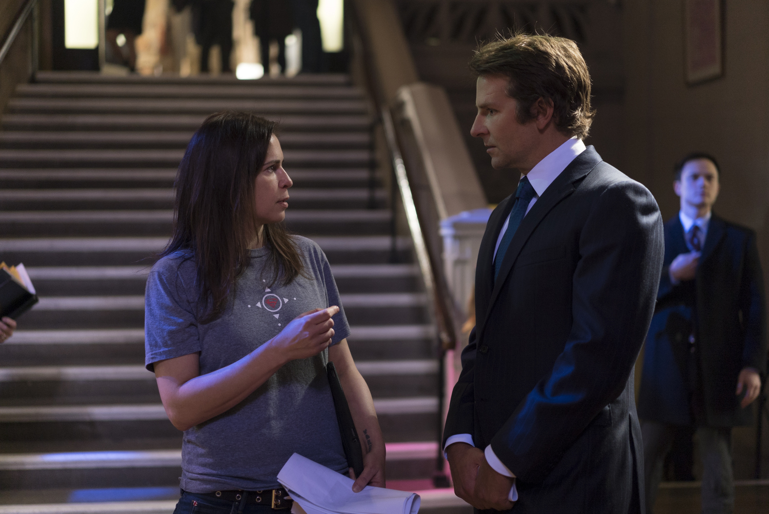 Episode Director Lexi Alexander and Bradley Cooper