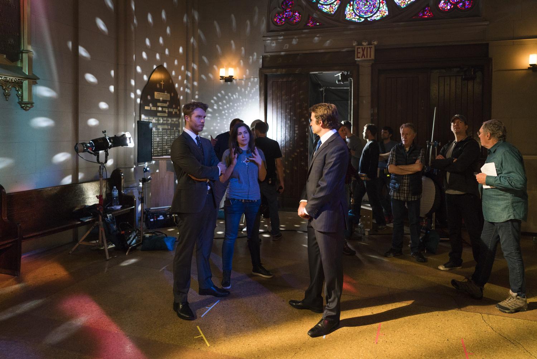 Jake McDorman, Episode Director Lexi Alexander, and Bradley Cooper