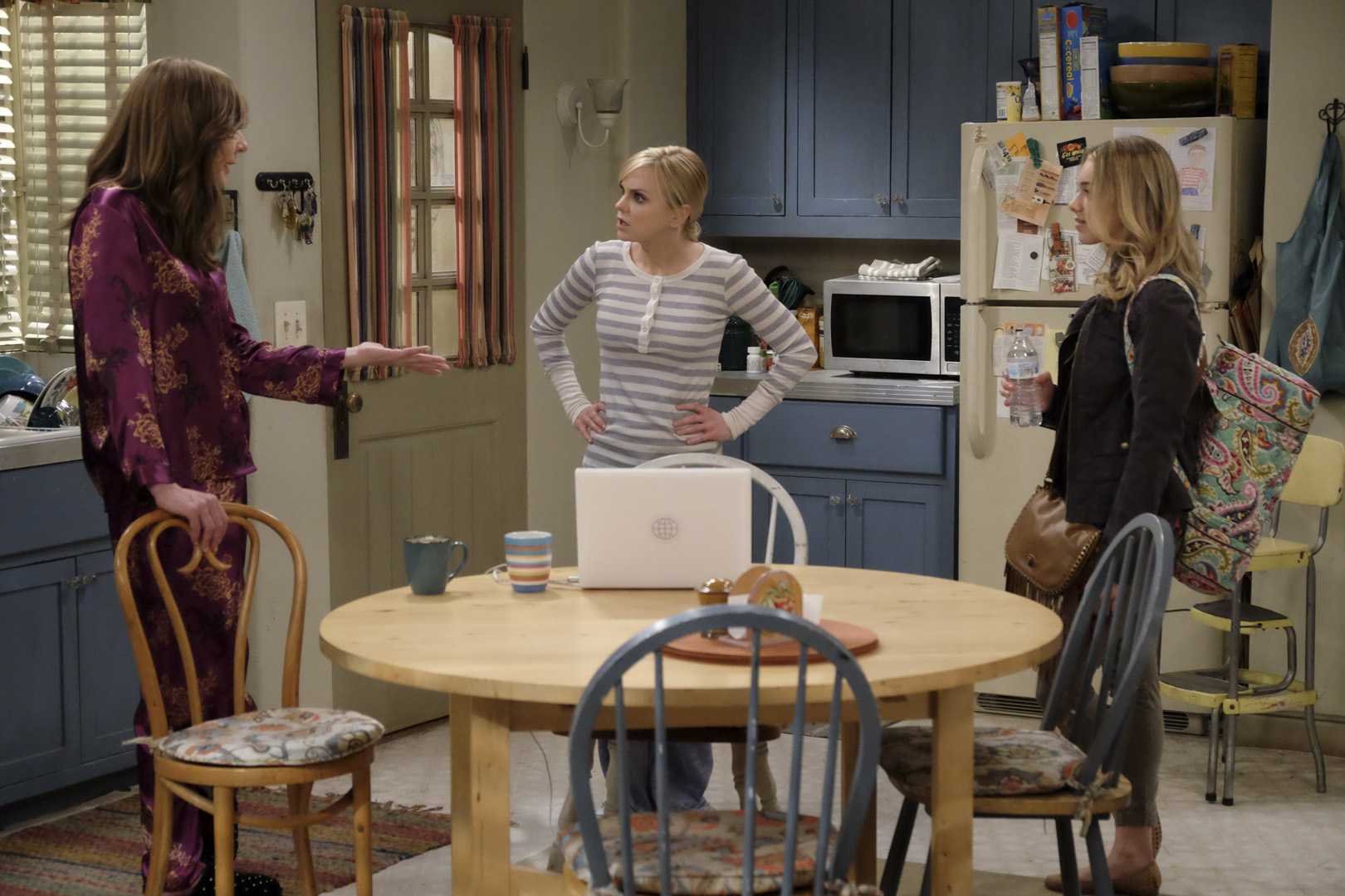 Violet walks into the kitchen to share big news with Bonnie and Christy.