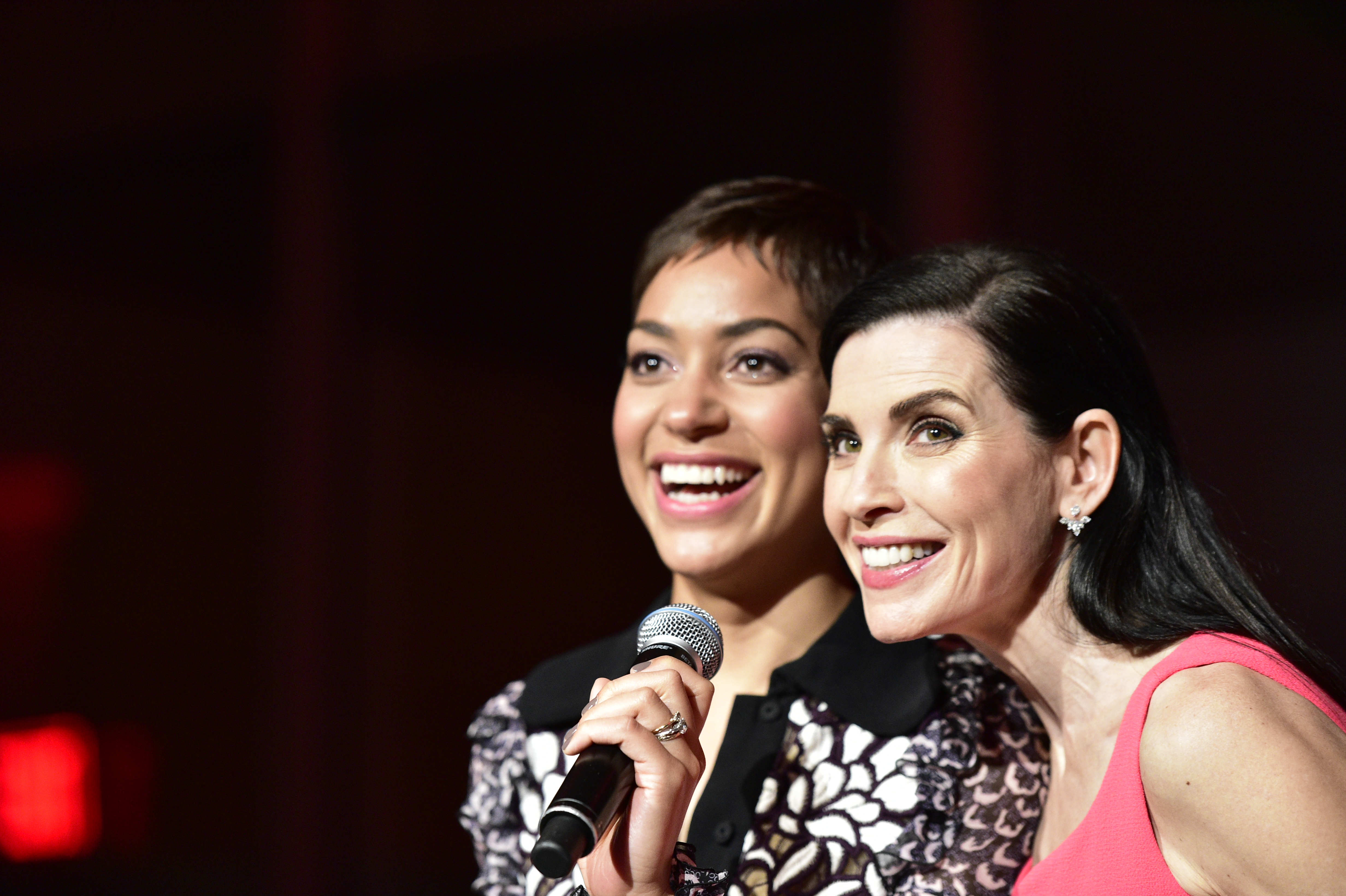 Cush Jumbo and Julianna Margulies
