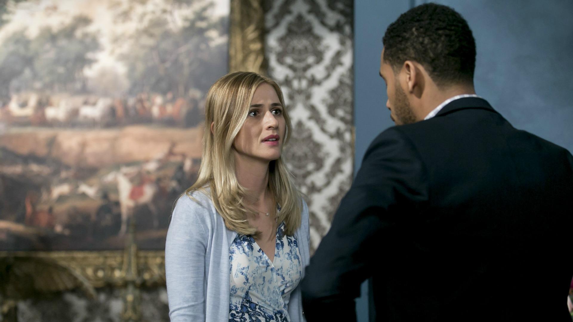 Tessa and Brady have a tense conversation.