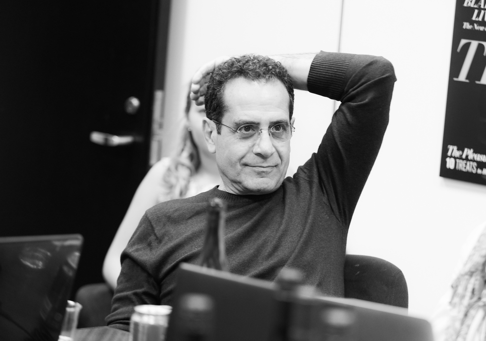 Tony Shalhoub watches the first episode of BrainDead.
