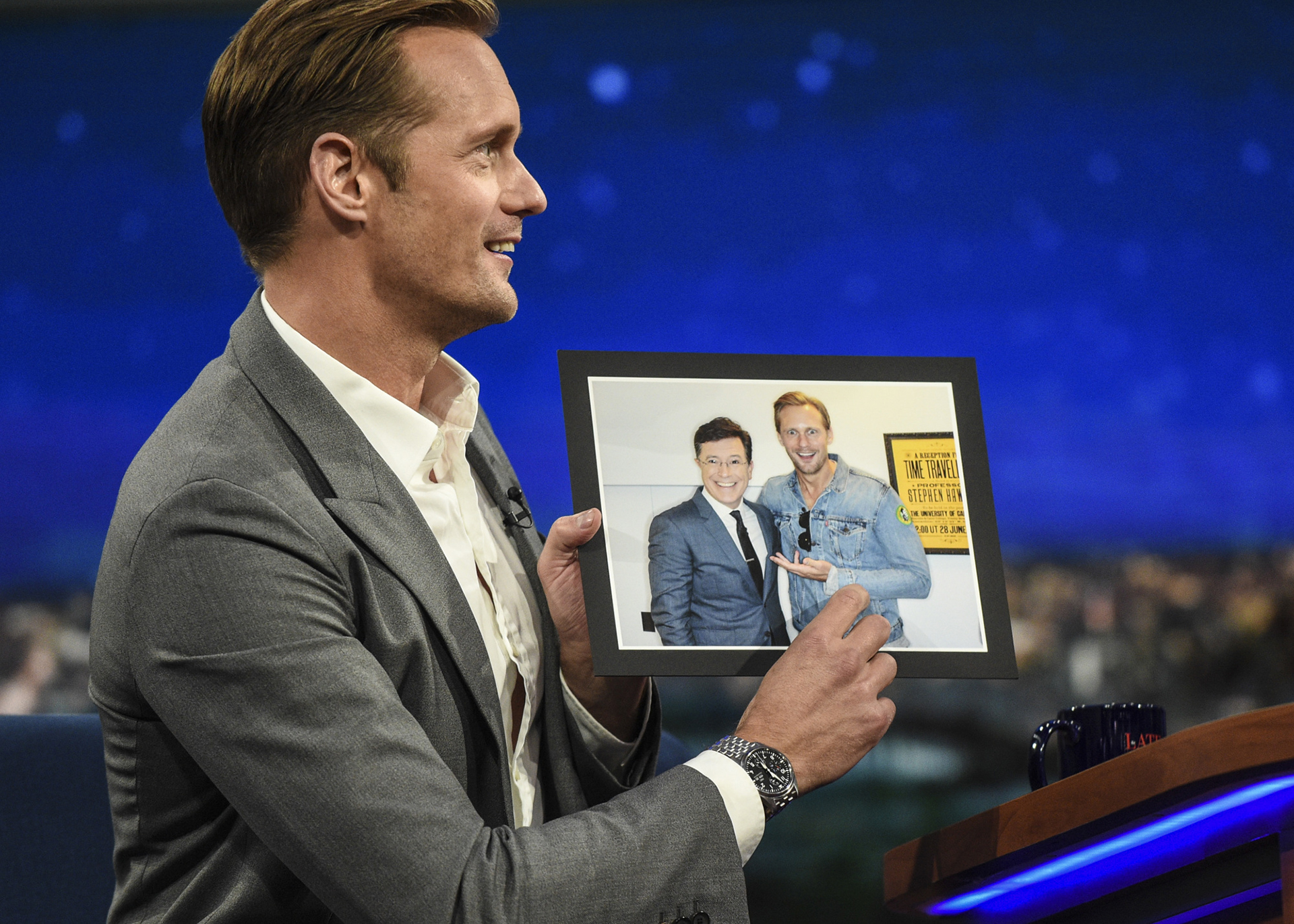 That Time Alexander Skarsgård Snuck Into The Late Show