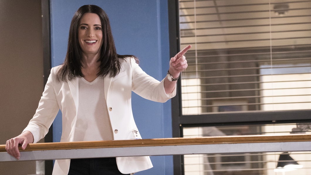 Paget Brewster has a point to make behind the scenes of