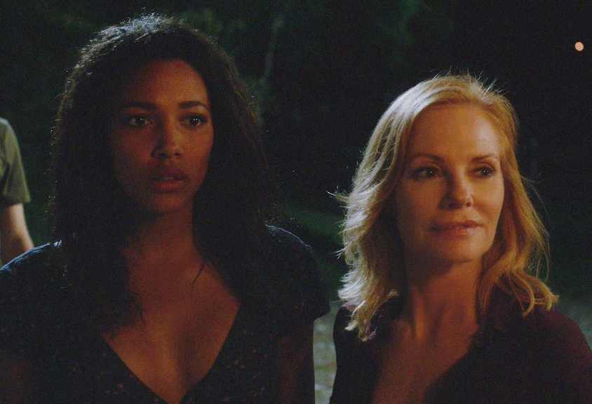 Kylie Bunbury as Eva Sinclair and Marg Helgenberger as Christine.