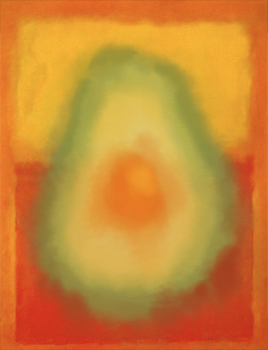 Orange and Yellow with Avocado, Mark Rothko, 1956