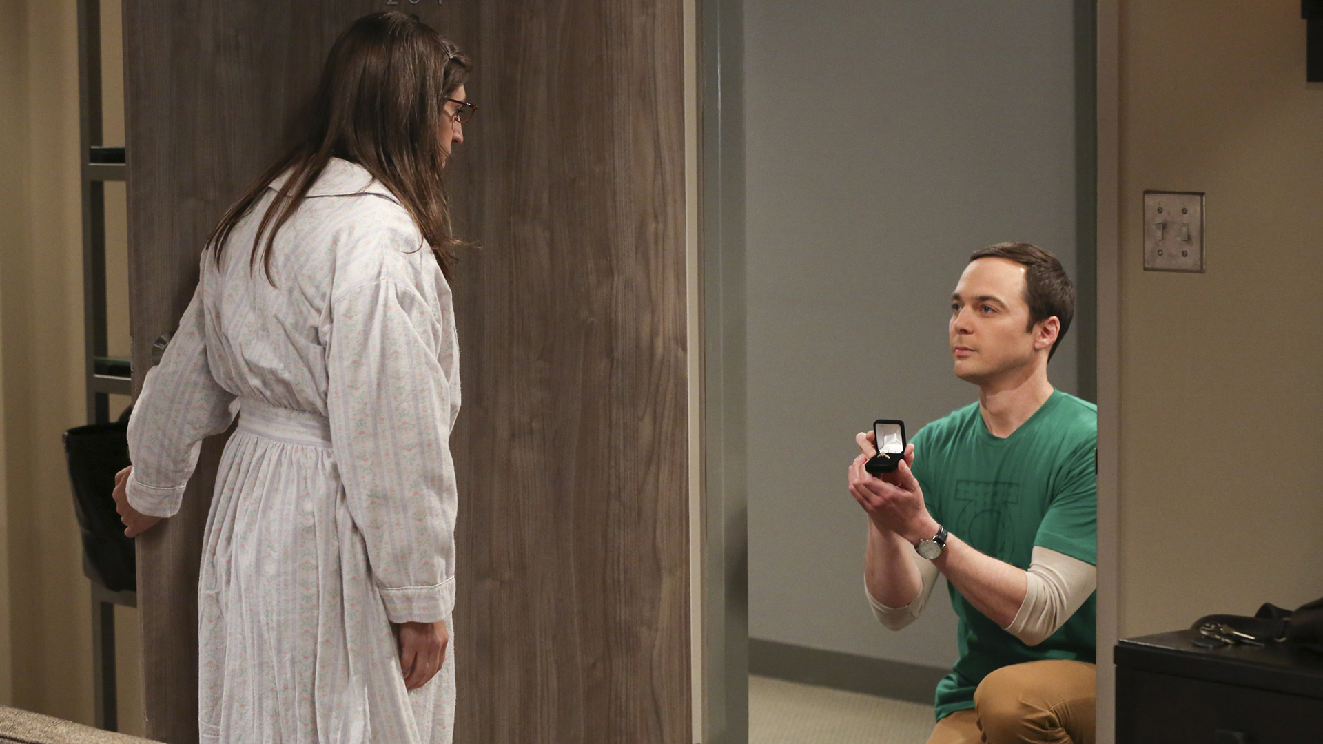 Sheldon's now-famous proposal to Amy was filmed in one take.